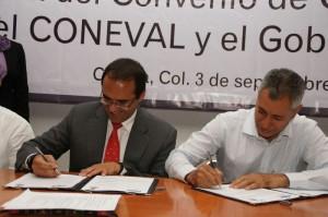 Firma de Convenio entre Coneval y Colima