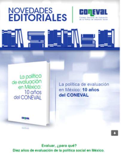 Novedades Editoriales CONEVAL